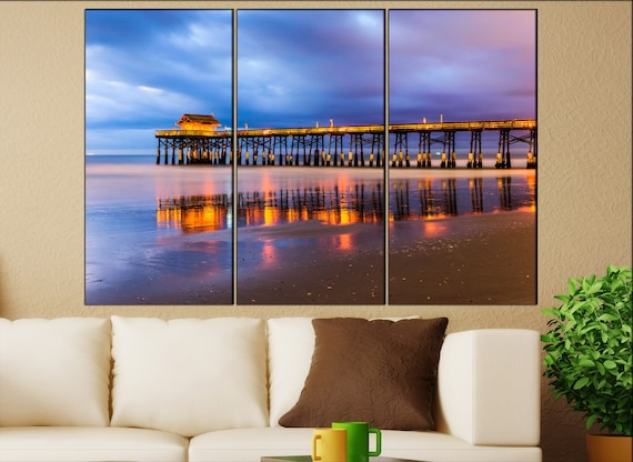 Cocoa Beach  canvas skyline Cocoa Beach wall decoration Cocoa Beach canvas art Cocoa Beach  wall decor canvas art