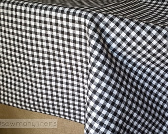 Black And White Gingham Plaid Tablecloth Plaid Table Linens Country Living  Home Decor Rustic Farmhouse Decor Dining Room Table Overlay Cover