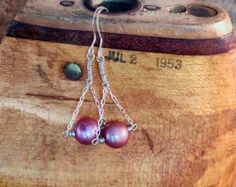 Pearl Trapeze Earrings