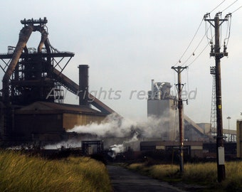 Industrial Landscape #7 Redcar Printable Photograph Instant Download 12mp image