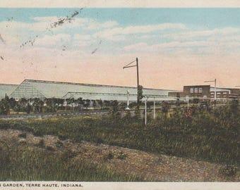 Davis Garden Terre Haute Indiana Vintage Postcard