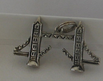 SALE Vintage 835 Silver London Draw Bridge