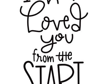 I Have Loved You from the Start Gospel Religious Scriptue Faith Art Print 8X10