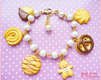 Sweet Chocolate and Cookies kawaii Bracelet by Dolly House