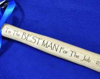 Best Man Gift ~ Groomsmen Gifts ~ Engraved Hammer ~ Wedding Party Gifts ~ Engraved Groomsmen Gifts ~ Personalized Hammer ~ Groomsmen ~ Groom