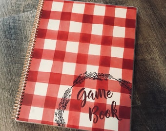 Game Night Score Book, Family Game Night, Score Tracker, Game Book, Family Fun