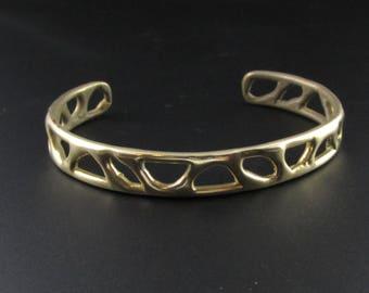 Brass Bracelet, Brass Cuff Bracelet, Organic Bracelet, Modernist Bracelet