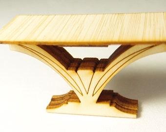 1:24 scale miniature dollhouse furniture kit Art deco side table