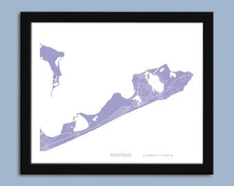 Montauk map, Montauk  city map art, Montauk  wall art poster, Montauk  decorative map
