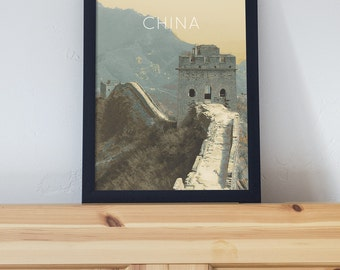 Great Wall of China Poster 11x17 18x24 24x36
