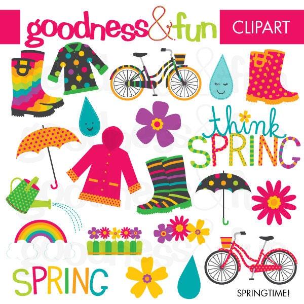 buy 2 get 1 free springtime spring clipart digital spring rh etsy com springtime clipart free springtime clipart free