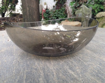 Concave Glass Bowl Mid Century