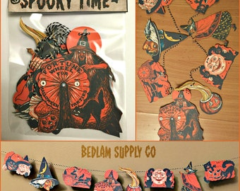 Old Time Halloween Garland Banner