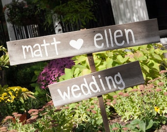 Barn Wood Bride Groom Wedding Sign,reclaimed wood sign,rustic wedding,bride heart groom,outdoor wedding,personalized sign,direction sign