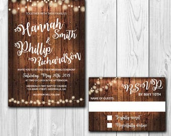 Wedding Invitations with Matching RSVP Cards
