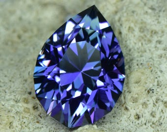 custom cut 7ct untreated tanzanite pear.