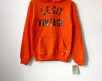 legit vintage X russell athletic hoodie mens size small deadstock NWT 90s made in USA