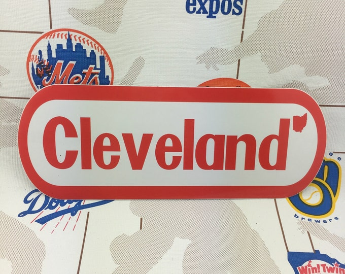 Featured listing image: Cleveland NES Logo Bumper Sticker