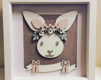 Bunny Box Frame (Personalised)