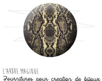 Cabochon 25 mm snake skin fantasy animal wild ref 1575