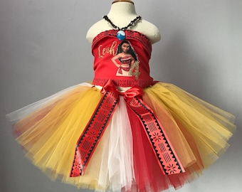 Moana Birthday Outfit, Moana Inspired Costume, Moana Halloween Costume,  Moana Tutu and Top, Moana Dress up Outfit