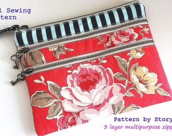 Quick and easy PDF handbag pattern | bag pattern | wallet sewing pattern | wallet pattern | pouch pattern  | clutch pattern |  organizer