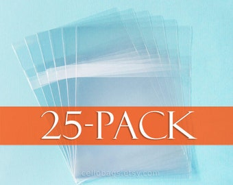 25 Pack 9 7/16 x 12 1/4  Cello Bags for 9 x 12 Prints, Resealable, Clear Packaging