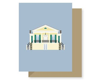 Beauregard-Keyes House, Preservation, Historic, Architecture Louisiana, New Orleans Greeting Card