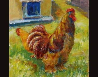 Big Daddy Rooster - giclee art print of my original oil painting