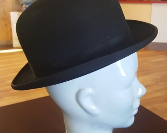 Cavanagh Black Bowler Derby Hat