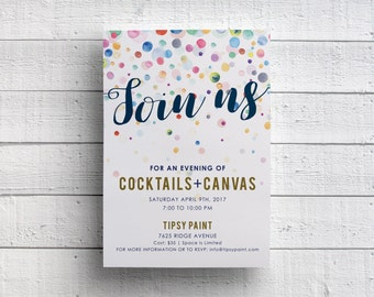 Painting Party Invitation Print Your Own
