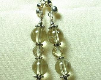 Lemon Quartz Earrings Lemon Quartz Faceted and Smooth Gemstones with Sterling Post Earrings