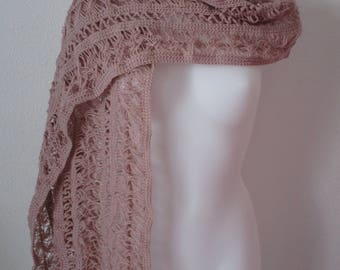 handmade stole with fork and crochet