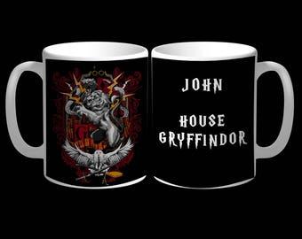11oz Gryffindor House Mug With Personalized Name - Harry Potter