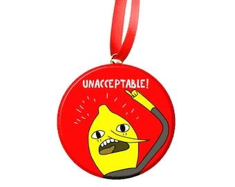 Adventure Time Lemongrab  Christmas Tree Ornament