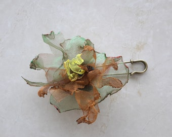 Women fabric brooch fabric accessory flower brooch