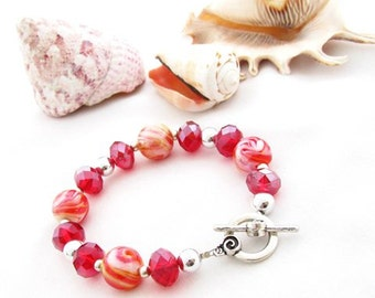 Red and Orange Bracelet