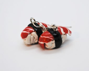 Miniature Sushi Dangle Earrings