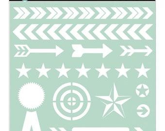 Stencil: Arrows 12 in x 12 in by Heidi Swapp