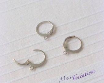 Hoop earrings / stainless steel