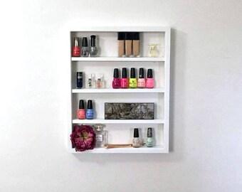 Wall Mounted Makeup Shelf | Nail Polish Shelf | Makeup Organizer | Gifts  For Her |