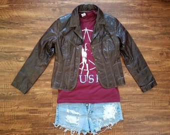Vintage Chocolate Leather Jacket by Wilsons Leather ( jacket only )