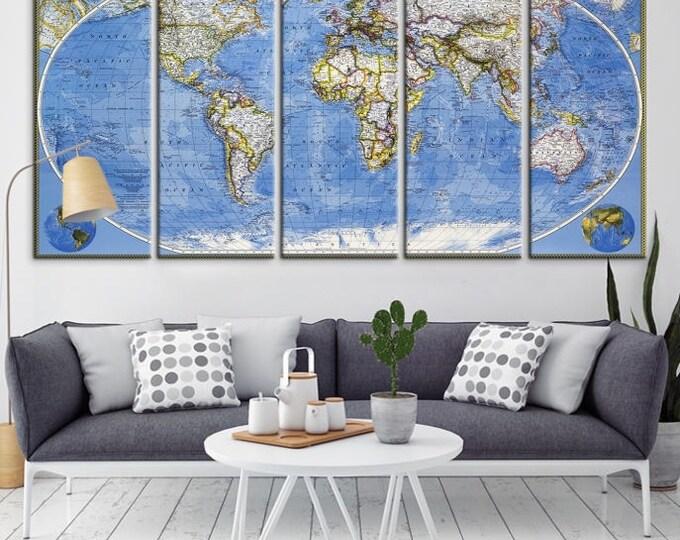 large wall art world map canvas print old world map travel canvas print modern