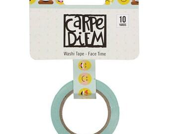 Carpe Diem Face Time Washi Tape