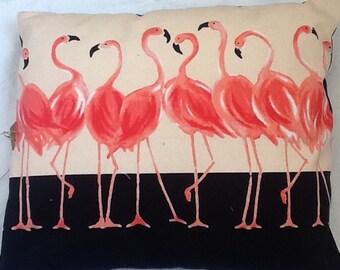Flirty flamingo cushion 46x40cm
