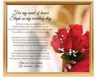 Bridesmaid poem   Etsy