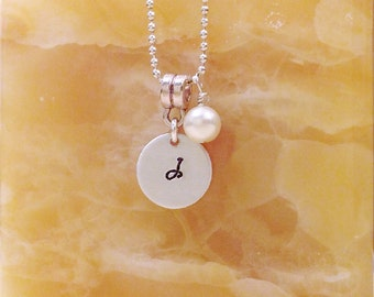 Personalized Necklace - Hand Stamped Initial - Personalized Stamped Necklace, Couple, sister, best friend, Hand Stamped Necklace
