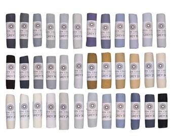 Unison Artist Quality Soft Pastels - Grey 1 - 36