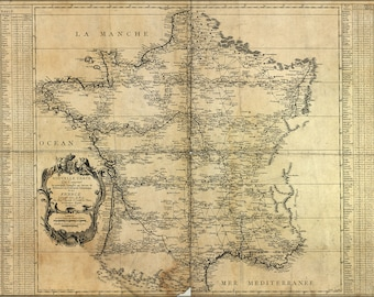 Poster, Many Sizes Available; Map Of France 1744