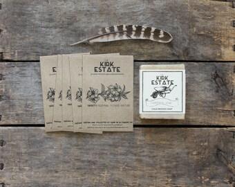 Gardener Gift Box Set, 1 large bar gardener soap + 5 seed packets, organic heirloom seeds, eco friendly gift, gift box, gardener gift set